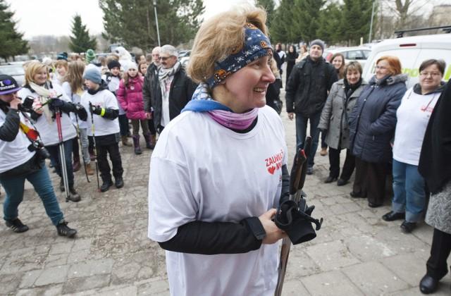 Jadwiga Grochowalska 30 stycznia wyruszy w kolejny marsz.