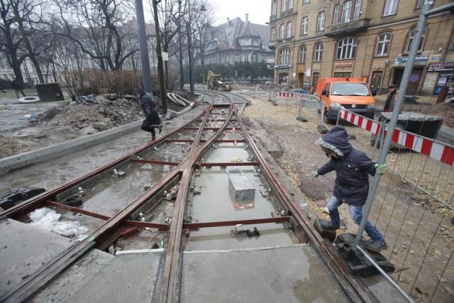 Przebudowa centrum Katowic - remont na placu Wolności