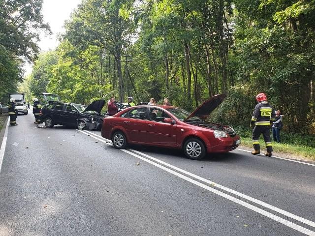 Wypadek na drodze krajowej numer 11.