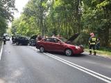 Wypadek w miejscowości Płytnica niedaleko Złotowa. Zderzyły się trzy samochody
