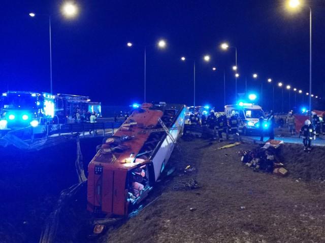 Tragedia na autostradzie A4, przy zjeździe na MOP Kaszyce.