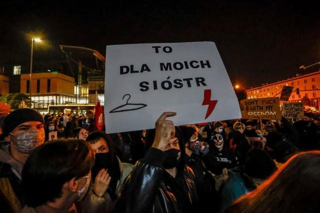 Protest przeciwko wyrokowi TK ws aborcji w Gdańsku.