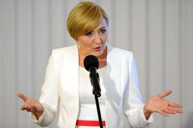 Agata Duda rzadko pojawia się publicznie. Najczęściej podczas wyjazdów zagranicznych prezydenta