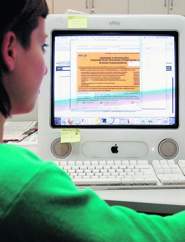 Wypełnienie zeznania w internecie zajmuje ok. 20 minut