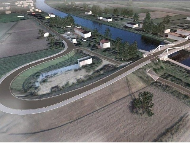 Wizualizacja nowego mostu w Nowakowie.