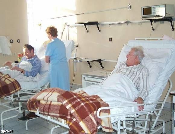 Oddział wewnętrzny bytowskiego szpitala.