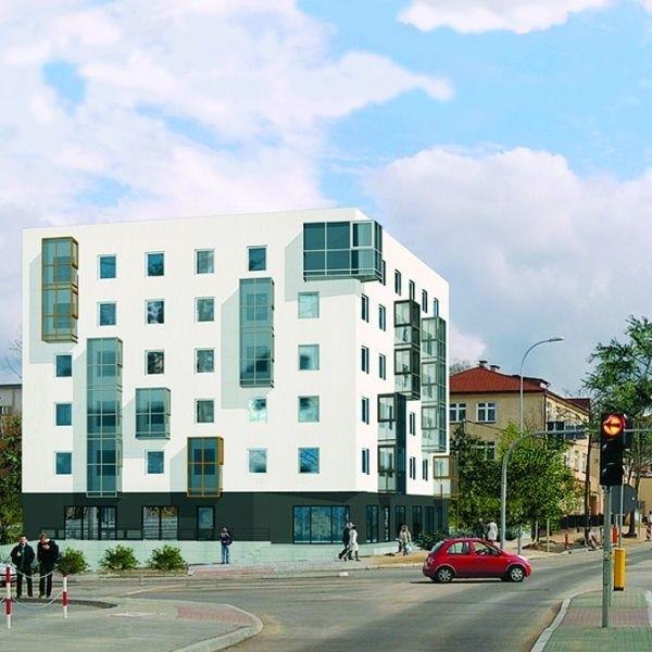 Zamiast balkonów - szklane wykusze. Projektant zapewnia, że ochronią one lokatorów przed hałasem.