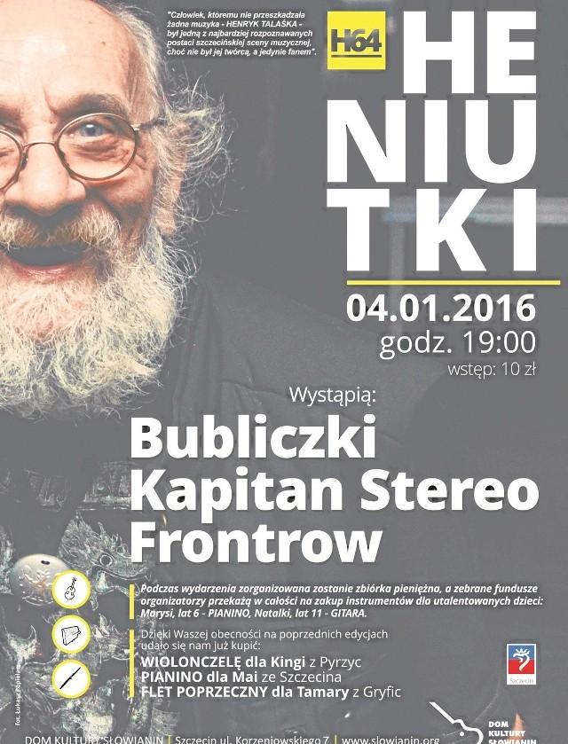 Koncert dla Henryka Talaśki na stałe wszedł  do kalendarza szczecińskich imprez. Zawsze grają na niej ciekawi wykonawcy