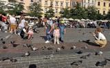 Kraków. Przepiękna pogoda przyciągnęła tłumy spacerowiczów na krakowski Rynek [ZDJĘCIA]