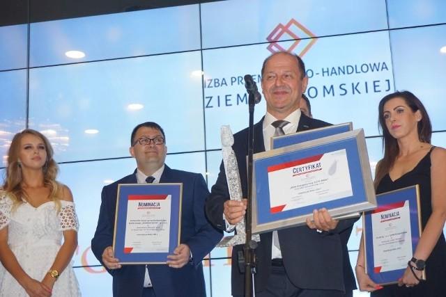Kapituła konkursu uhonorowała spółkę za wybudowanie bloku energetycznego B11 o mocy 1075 MW. Na pierwszym planie wiceprezes Jan Mazurkiewicz.