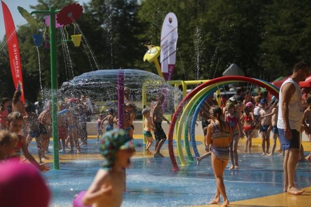 Wodny plac zabaw w Dolinie Trzech Stawów w Katowicach