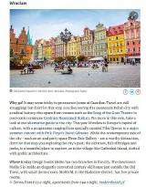 """Wrocław wśród 10 najciekawszych miast w Europie wg """"Guardiana"""""""