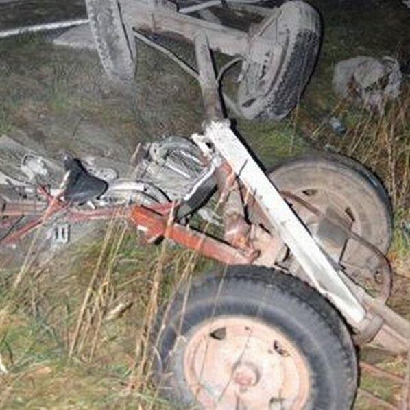 Furmanka po wypadku była doszczętnie zniszczona