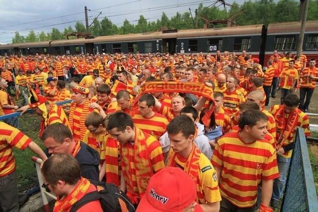 Żółto-Czerwona Armia ruszyła do Bydgoszczy na finał Pucharu Polski. Była ze swoimi piłkarzami Jagiellonii i po meczu ciszyła się z sukcesu