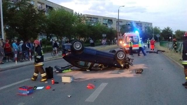 18-letniemu kierowcy seata nic się na szczęście nie stało