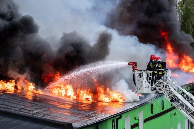 Pożar domu jednorodzinnego na Wrzosach. Parter spalony, uszkodzone piętro