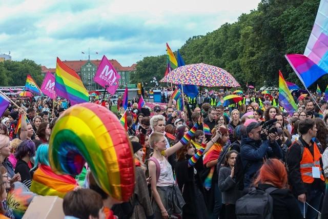 3. Szczeciński Marsz Równości przeszedł niezakłócany w sobotnie popołudnie ulicami miasta.