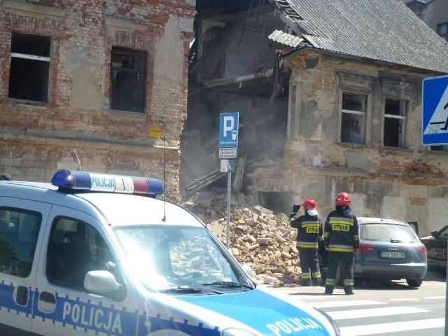 Gniezno: Zawalił się fragment budynku
