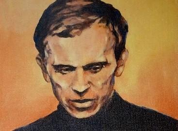 Ks. Jerzy Popiełuszko na obrazie z gorzowskiej katedry