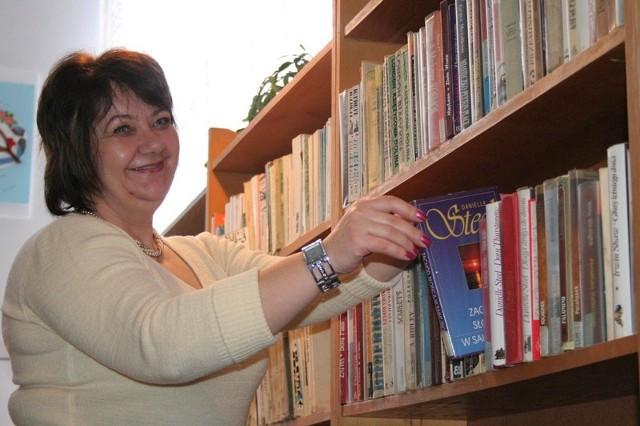 Grażyna Jeszka podkreśla, że na filię biblioteki publicznej przydałoby się nowe, duże pomieszczenie