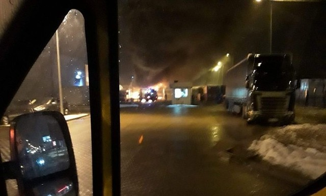 Pożar ciężarówek w pobliżu Tradis w Porosłach