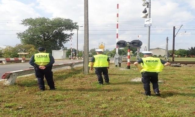 Wspólna akcja poddębickiej policji i Straży Ochrony Kolei