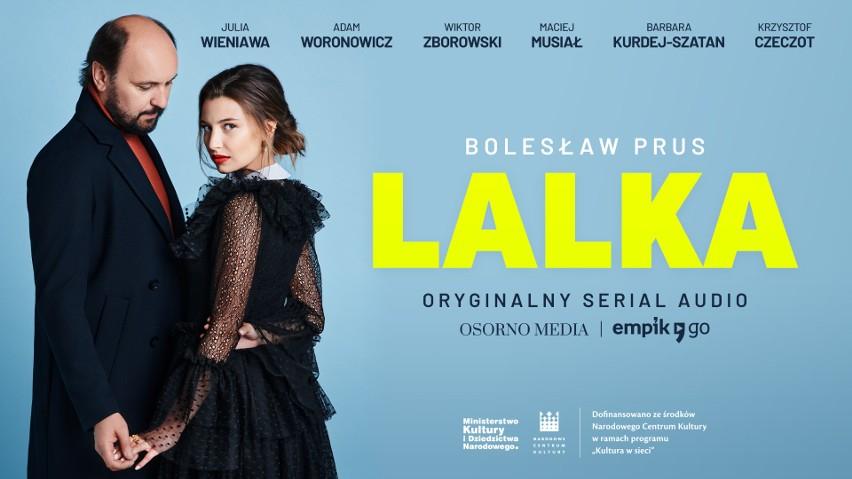 """Adam Woronowicz i Julia Wieniawa jako Wokulski i Łęcka w serialu audio """"Lalka"""" według słynnej powieści Bolesława Prusa"""