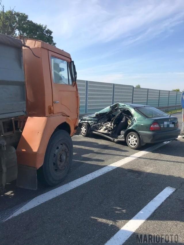 Wypadek na drodze krajowej nr 46 w Dobrodzieniu