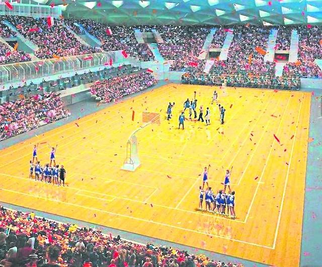 Tak od środka mogłaby wyglądać hala widowiskowo-sportowa. Koncepcję jej budowy bez bieżni lekkoatletycznej od początku forsuje białostocki magistrat.