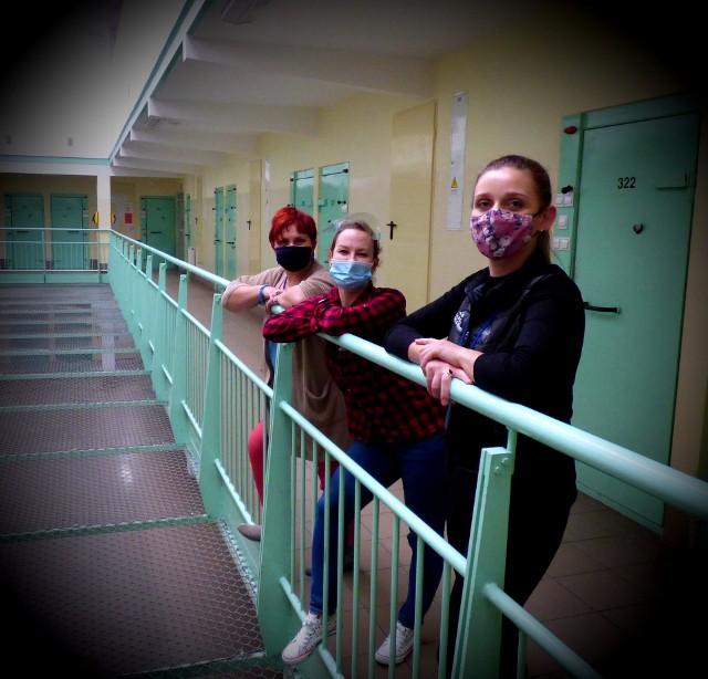 Kobiety pracujące w Areszcie Śledczym w Suwałkach