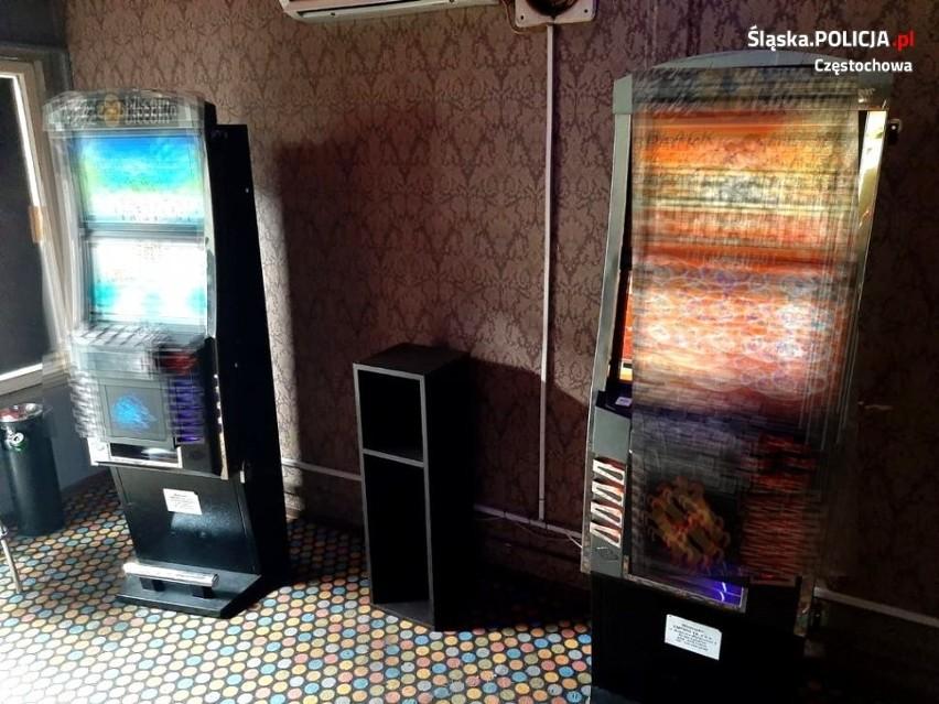 Częstochowska policja przejęła nielegalne automaty