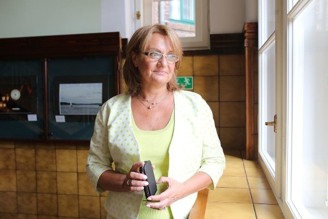 Małgorzata Henszke tuż przed wejściem na konkursowe przesłuchanie.