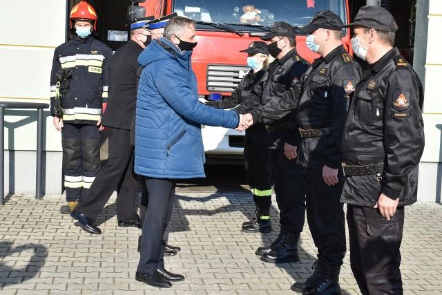 Podczas wtorkowych uroczystości strażackich w Pińczowie