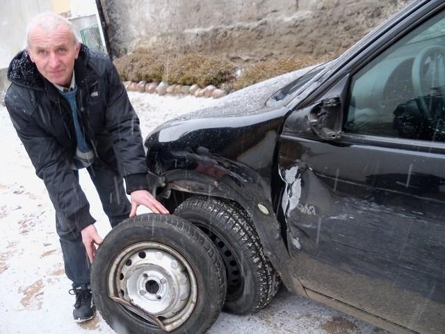 Teraz pan Zbigniew czeka na ujawnienie przez policję danych o kolizji, bo chce aby odpowiedzialny za szkodę pokrył koszt naprawy samochodu.