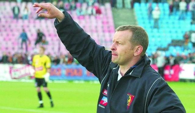 Piotr Mandrysz wprowadził Pogoń Szczecin do I ligi, teraz na tym froncie walczyć będzie o powrót do ekstraklasy.