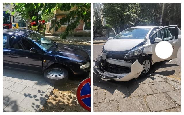 Wypadek na skrzyżowaniu ulic Paderewskiego i Zamoyskiego.