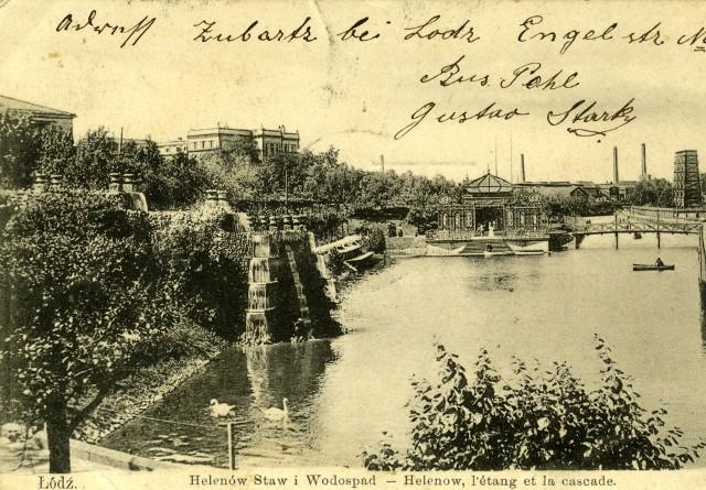 Jedną z atrakcji parku w Helenowie były kaskady, jedyne takie w Łodzi