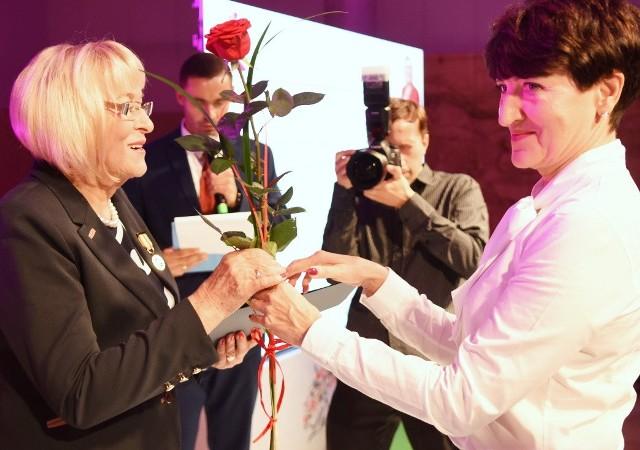 Zielona Góra, 19 października 2018. Podczas Lubuskiego Kongresu Kobiet wręczono Odznaki Honorowych za Zasługi dla Województwa Lubuskiego oraz nagrodzono Liderki Lubuskiego Samorządu.