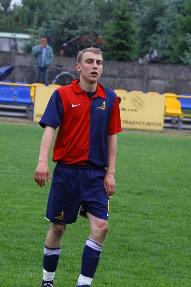 Damian Polok zdobył dwa gole dla Victorii Chróścice.