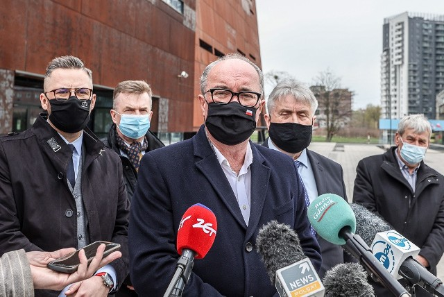 Konferencja prasowa polityków Lewicy w Gdańsku