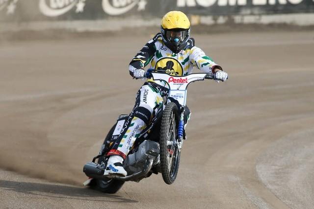 Matej Žagar, żużlowiec Falubazu Zielona Góra, uczestnik cyklu Grand Prix.