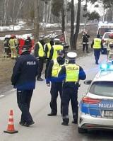 Białogrądy: Wypadek śmiertelny na DK 65. Bus uderzył w drzewo, jedna osoba nie żyje