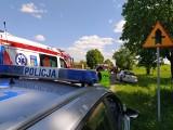 Sokółka. Wypadek na ulicy Kryńskiej. Kierowca mercedesa uderzył w dwa samochody osobowe. Dwie osoby ranne