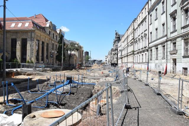 Przebudowa Dworcowej w Katowicach.Zobacz kolejne zdjęcia. Przesuwaj zdjęcia w prawo - naciśnij strzałkę lub przycisk NASTĘPNE