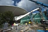 Trwa budowa amfiteatru w Koszalinie. Jak postępują prace? [ZDJĘCIA, WIDEO]