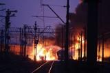Katastrofa cystern w Białymstoku. 8 listopada pociągi zderzyły się na wiadukcie. Wybuchł olbrzymi pożar (zdjęcia, wideo)