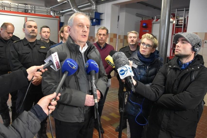 Pożar w hospicjum w Chojnicach 6.01.2020. Konferencja na...