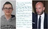 Chory chłopiec pisze do Sutryka, żeby zostawił jego szkołę