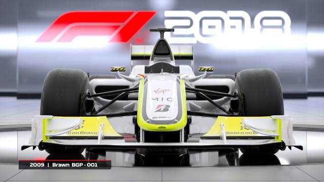 F1 2018jednym z klasycznych bolidów dostępnych w grze F1 2018 będzie Brawn BGP 001