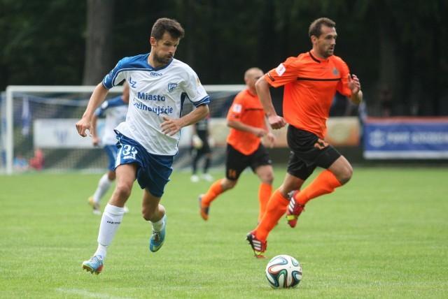 Sebastian Olszar zdobył dla Floty jedyną bramkę w meczu z Zagłębiem.